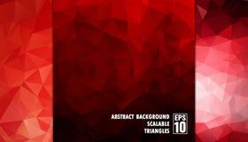 Abstrakter geometrischer Hintergrund von Dreiecken in den roten Farben Lizenzfreies Stockbild
