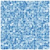 Abstrakter geometrischer Hintergrund von Kreisen in der blauen Steigung Lizenzfreies Stockfoto