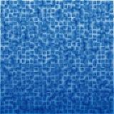Abstrakter geometrischer Hintergrund von Quadraten in der blauen Steigung Stockbilder
