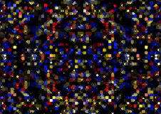 Abstrakter geometrischer Hintergrund von Quadraten und von Dreiecken Lizenzfreies Stockfoto