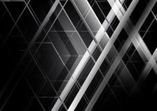 Abstrakter geometrischer Konzeptschwarzweiss-hintergrund Lizenzfreie Stockfotos