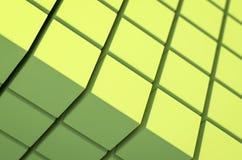 Abstrakter geometrischer Kubikhintergrund Stockfoto
