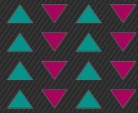 Abstrakter geometrischer nahtloser Hintergrund mit Pfeilen Stockbild