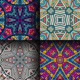 Abstrakter geometrischer nahtloser Mustersatz Stockfotos