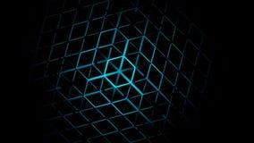 abstrakter geometrischer Neonhintergrund 3D Stockfoto