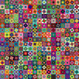 Abstrakter geometrischer Quadrathintergrund Lizenzfreie Stockfotografie