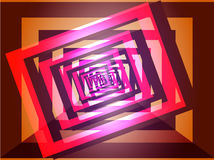 Abstrakter geometrischer rosa-purpurroter Hintergrund Stockbild