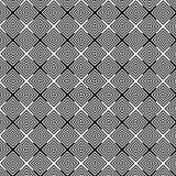 Abstrakter geometrischer Schwarzweiss-Musterhintergrund der OPkunst lizenzfreie abbildung