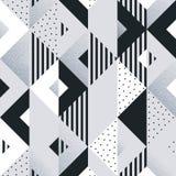 Abstrakter geometrischer silberner Musterhintergrund von Quadrat- und Dreieckelementen für moderne modische Designschablone Vekto stock abbildung