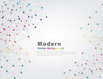Abstrakter geometrischer vektorhintergrund Lizenzfreies Stockfoto