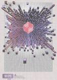 Abstrakter geometrischer Würfel verdrängen auf grafischem Hintergrund Lizenzfreies Stockbild