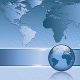 Abstrakter Geschäftshintergrund mit Erdekarte stock abbildung