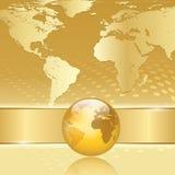 Abstrakter Geschäftshintergrund mit Erdekarte Stockfotos