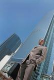 Abstrakter Geschäftsmann draußen Lizenzfreie Stockfotografie