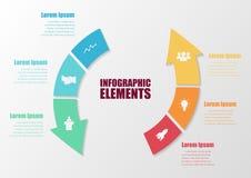Abstrakter Geschäftspfeil Infographic Lizenzfreie Stockfotos