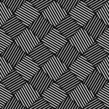 Abstrakter gestreifter Rauten-geometrischer Vektor-nahtloses Muster Stockfotos