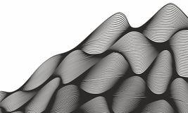 Abstrakter gewellter Hintergrund mit dynamischem Effekt Abstrakter Technologie-Hintergrund stock abbildung