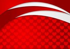 Abstrakter gewellter Hintergrund mit Herzbeschaffenheit vektor abbildung