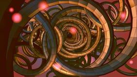 Abstrakter gewundener Drahthintergrund mit Technologie- oder sci-FI-concep Stockbild
