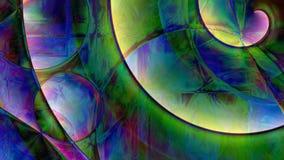 Abstrakter gewundener Prisma-Hintergrund stockbild
