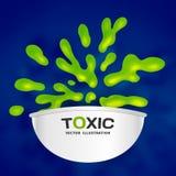 Abstrakter giftiger Vektorfarbspritzenhintergrund Lizenzfreie Stockbilder