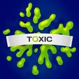 Abstrakter giftiger Vektorfarbspritzenhintergrund Lizenzfreies Stockbild