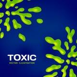 Abstrakter giftiger Vektorfarbspritzenhintergrund Stockfotografie