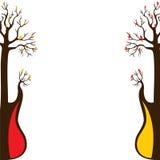 Abstrakter Gitarrenbaum lizenzfreie abbildung