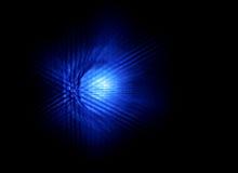 Abstrakter Glühen-Licht-Hintergrund - blaue Farbe Stockbild