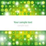 Abstrakter glühender grüner Hintergrund Stockbilder