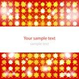 Abstrakter glühender roter Hintergrund Lizenzfreie Stockfotos
