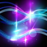 Abstrakter glühender Wellen-Hintergrund vektor abbildung
