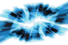 Abstrakter Glasbewegungseffekt Lizenzfreies Stockbild