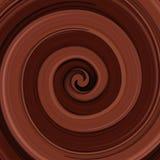 Abstrakter glatter Schokoladenstrudelhintergrund Lizenzfreie Stockfotos