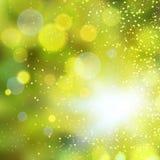 Abstrakter Goldbokeh Hintergrund Lizenzfreie Stockfotografie