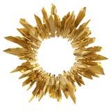 Abstrakter goldener kristallisierter Hintergrund 3d Stockbild