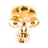 abstrakter goldener Schädel Stockbilder