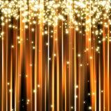Abstrakter goldener Scheinhintergrund Stockbild