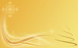 Abstrakter Goldfeiertagshintergrund mit Weihnachten Stockfoto