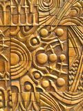 Abstrakter Goldhintergrund mit mystischer Auslegung lizenzfreie stockfotos