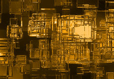 Abstrakter Goldkristallhintergrund Stockfotos