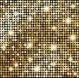 Abstrakter Goldmosaikhintergrund Lizenzfreie Stockfotografie
