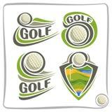 Abstrakter Golfball Logo des Vektors Stockbilder