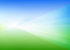 Abstrakter grün-blauer Hintergrund Stockfotos
