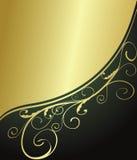 Abstrakter Grün- und Goldhintergrund Stockbilder