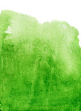Abstrakter grüner Aquarellhintergrund Stockfotografie