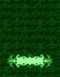 Abstrakter grüner Batik Yogyakarta der Abdeckung Lizenzfreie Stockfotos
