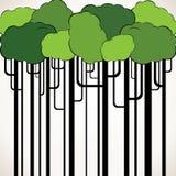 Abstrakter grüner Baumhintergrund stock abbildung