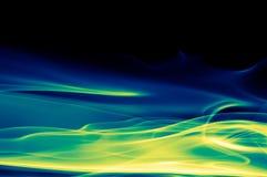 Abstrakter grüner, blauer und schwarzer Hintergrund Lizenzfreies Stockbild