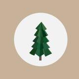 Abstrakter grüner Dreieckmuster Weihnachtsbaum Stockfoto